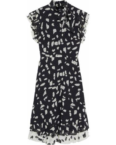 Черное платье с подкладкой на крючках Mikael Aghal