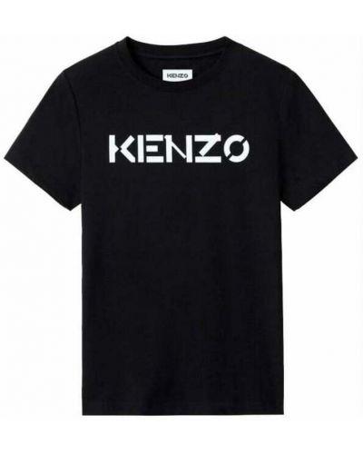 Czarna podkoszulka z printem Kenzo