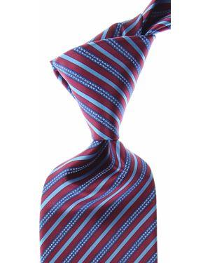 Czerwony krawat w paski z jedwabiu Stefano Ricci