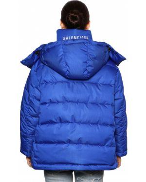 Куртка с капюшоном стеганая оверсайз Balenciaga