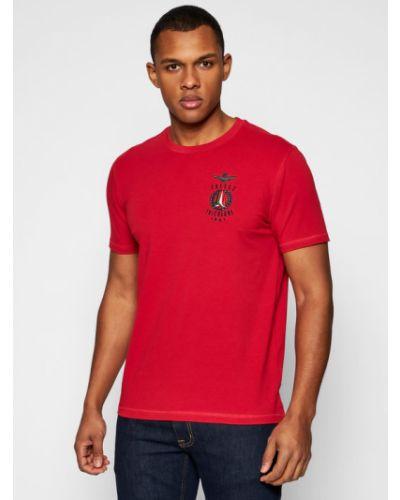 Czerwona t-shirt Aeronautica Militare
