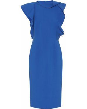 Платье в рубчик шерстяное Oscar De La Renta