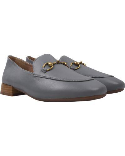 Кожаные туфли - серые Berkonty