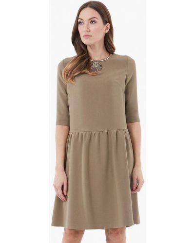 Бежевое повседневное платье Vladi Collection