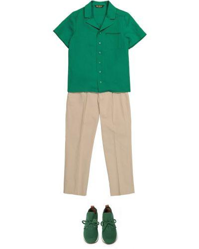 Zielona koszula Loro Piana Kids