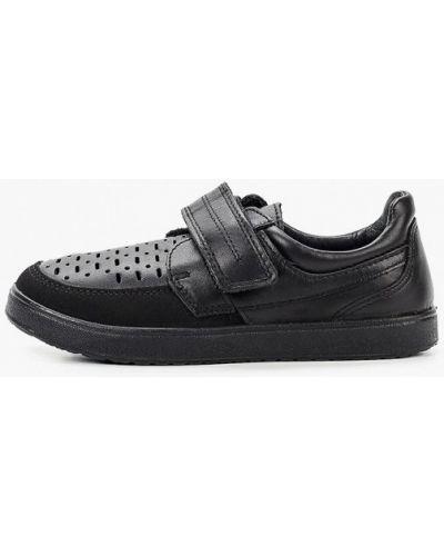 Кожаные черные туфли котофей