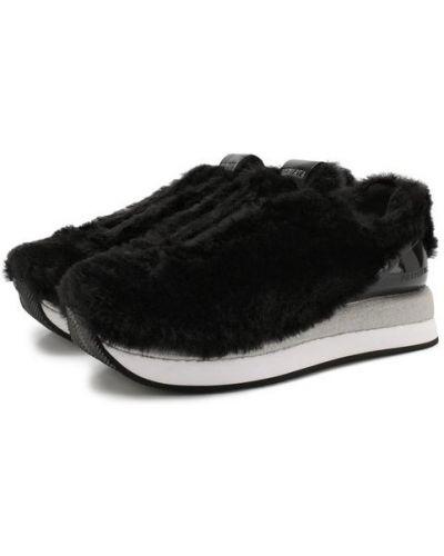Черные кроссовки комбинированные Premiata