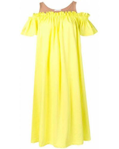 Свободное желтое платье мини свободного кроя Neul