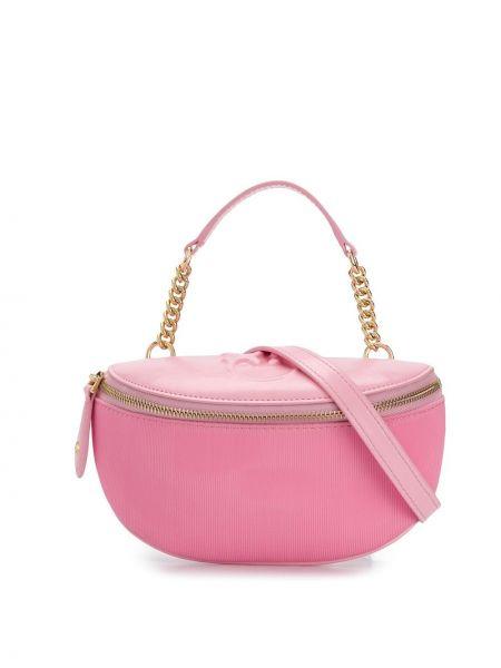 Нейлоновый розовый ремень с поясом Pinko