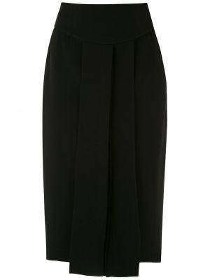 Прямая с завышенной талией юбка миди со складками на молнии Gloria Coelho
