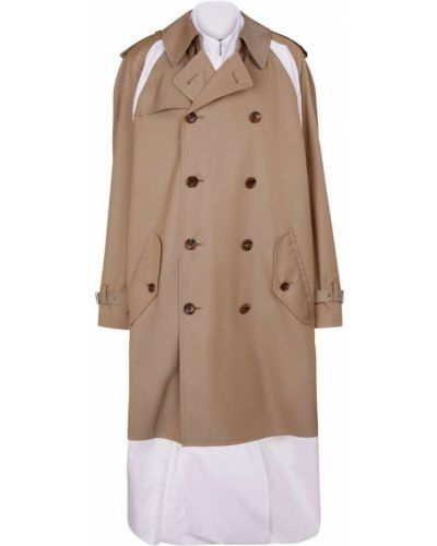 Ватное хлопковое бежевое пальто Junya Watanabe