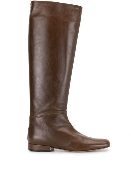 Коричневые сапоги с высоким голенищем с квадратным носком до середины колена квадратные Céline Pre-owned