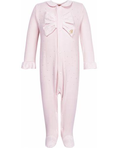 Хлопковый розовый комбинезон Miss Blumarine