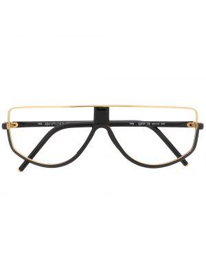 Прямые черные очки круглые металлические Gianfranco Ferre Pre-owned