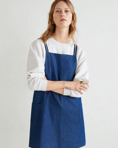Джинсовое платье весеннее 2019 Mango