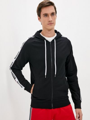 Черная зимняя толстовка Moschino Underwear