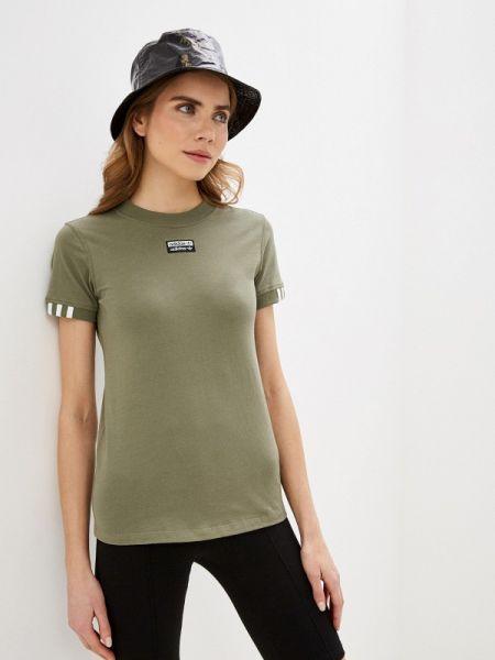 Поло зеленый хаки Adidas Originals