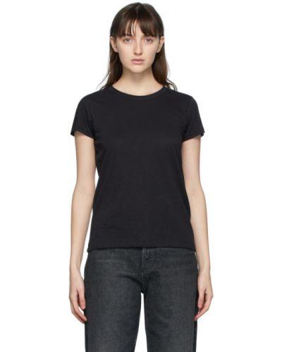 Bawełna bawełna czarny koszula z krótkim rękawem z kołnierzem Rag & Bone