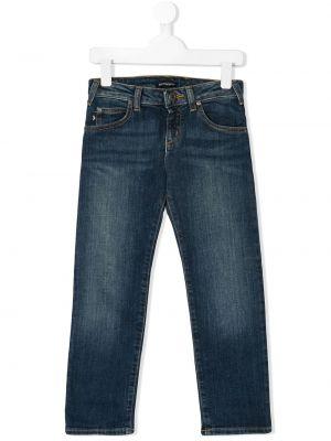 Синие джинсы Emporio Armani Kids