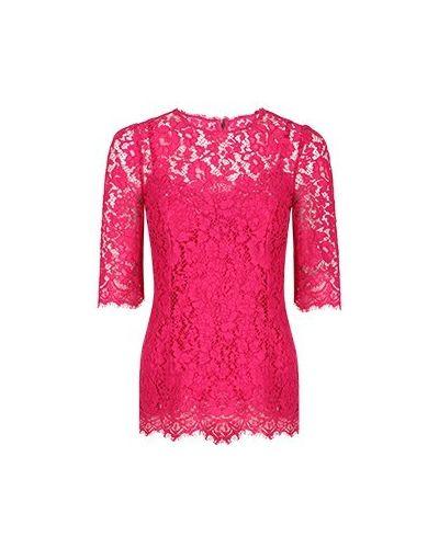Розовая блузка из вискозы Dolce&gabbana