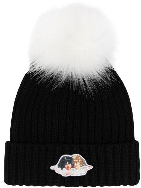 Czarna czapka bawełniana Fiorucci
