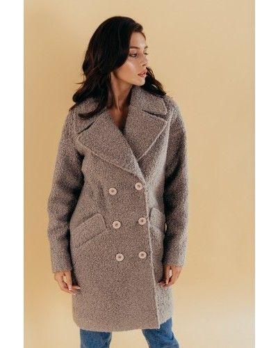 Пальто оверсайз - серое Valentir