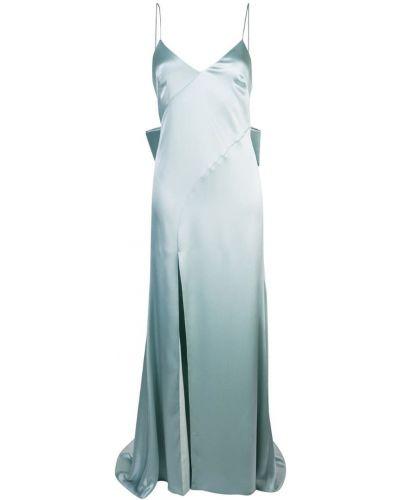 Платье с открытой спиной - синее Zac Zac Posen