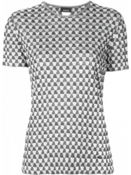 T-shirt z jedwabiu Akris