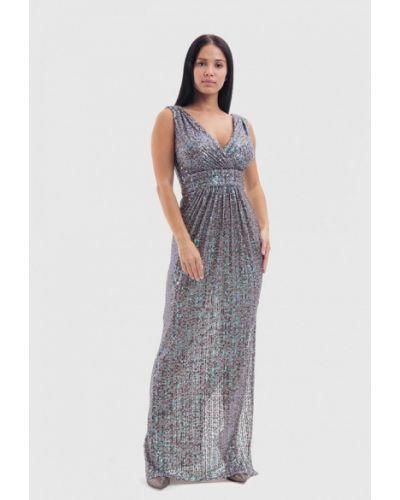 Серое вечернее платье Vestiri