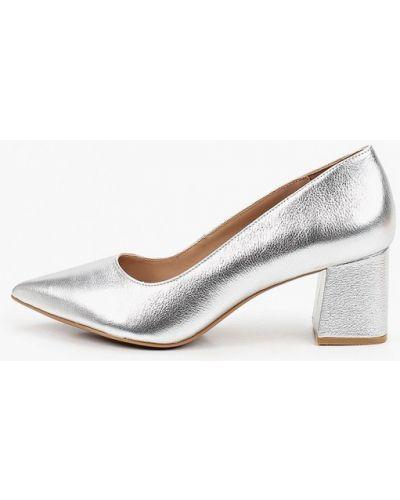 Кожаные туфли - серебряные Kazar Studio