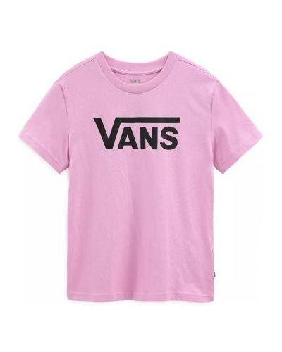 Różowy t-shirt bawełniany Vans