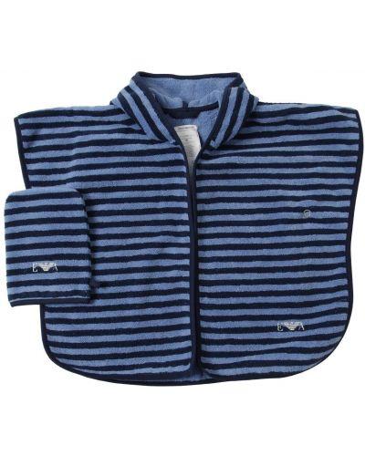 Махровый халат с вышивкой с капюшоном Emporio Armani