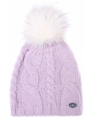 Акриловая классическая фиолетовая шапка с помпоном Canadiens