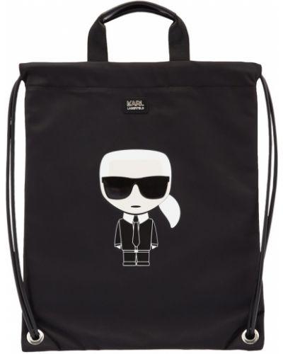 Кожаная сумка большая нейлоновая Karl Lagerfeld