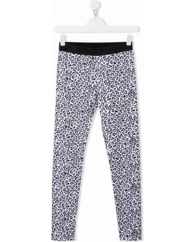 Białe spodnie z printem Pinko Kids