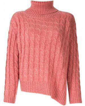 Розовый акриловый свитер в рубчик Le Ciel Bleu