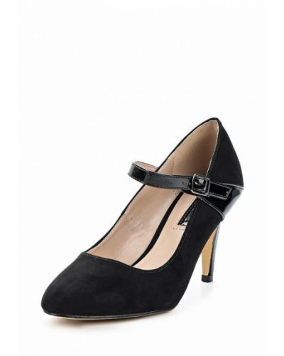 Туфли на каблуке с застежкой на лодыжке замшевые Dorothy Perkins