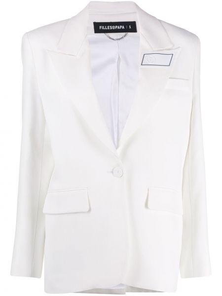 Белая куртка с манжетами на пуговицах с карманами Filles A Papa