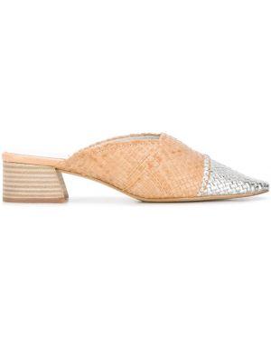 Мюли на каблуке квадратные без застежки с квадратным носком Miista