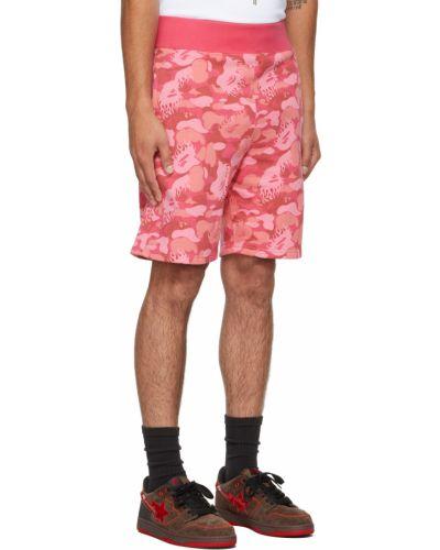 Różowe szorty Bape