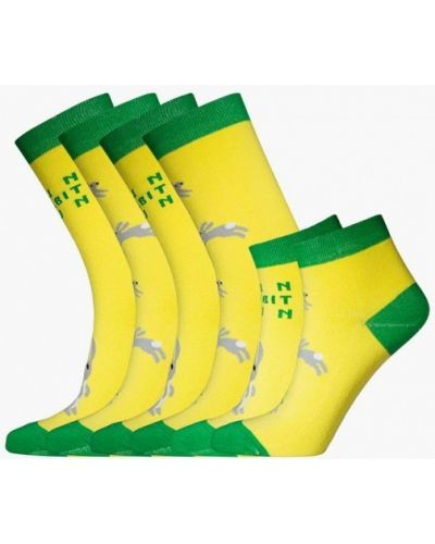 Желтый носки набор Bb Socks