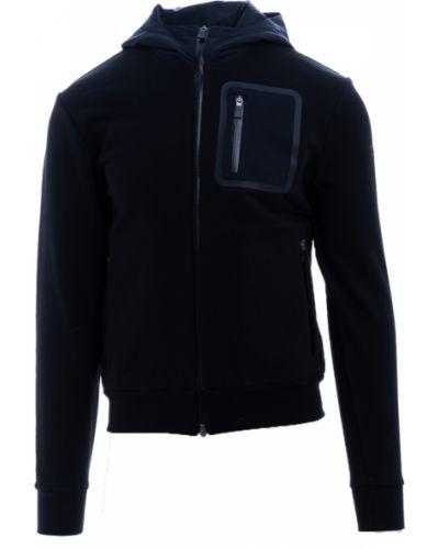 Czarny sweter z kapturem bawełniany Herno