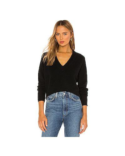 Черный кашемировый свитер с декольте Equipment