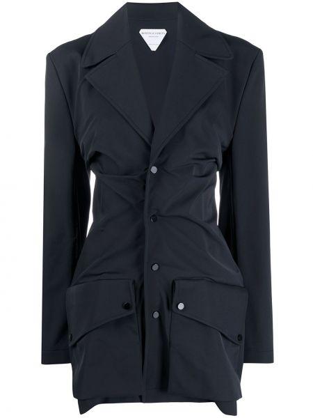 Однобортный черный приталенный пиджак Bottega Veneta