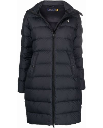 Пуховое полупальто - черное Polo Ralph Lauren