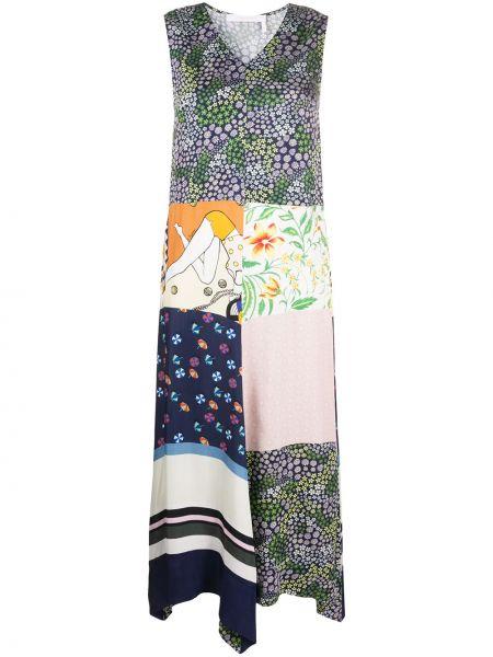 Платье пэчворк с V-образным вырезом See By Chloe