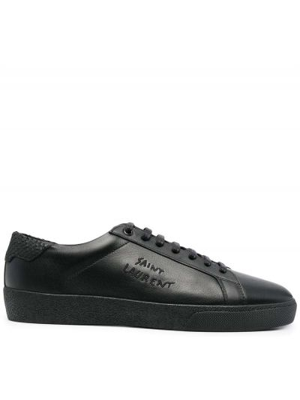Buty sportowe skorzane - czarne Saint Laurent