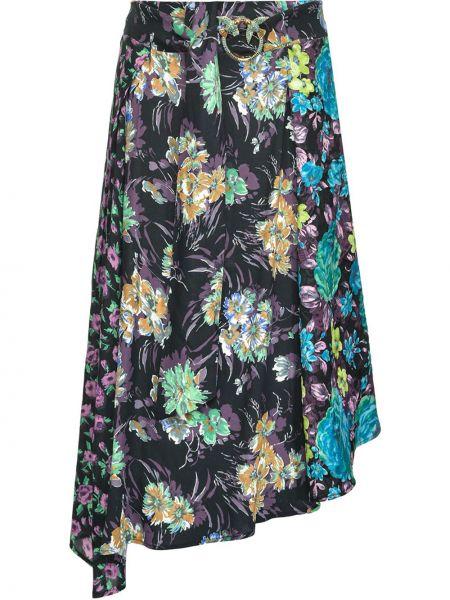 Czarny asymetryczny spódnica z klamrą z wiskozy Pinko