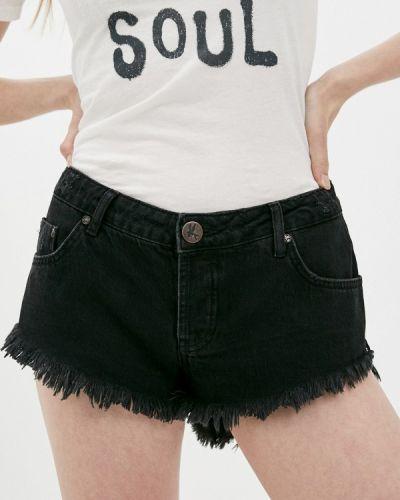 Черные джинсовые шорты One Teaspoon