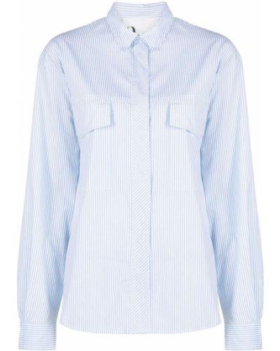 Хлопковая с рукавами белая рубашка 8pm